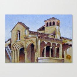 Postcard from Iglesia de la Trinidad, Segovia, Spain Canvas Print