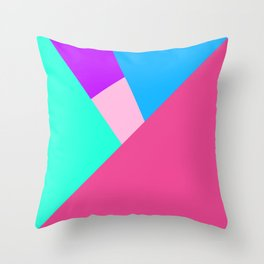 Bright Geometric Shapes Throw Pillow