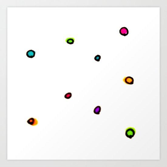 Dots & Doodles. Art Print
