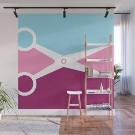 Pop Art Scissors Wall Mural