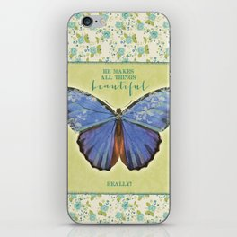 Fly By Faith Butterfly by Terri Conrad Designs iPhone Skin