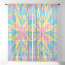 Pan Tie-Dye Sheer Curtain