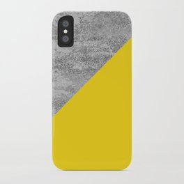Simply Concrete Mod Yellow iPhone Case