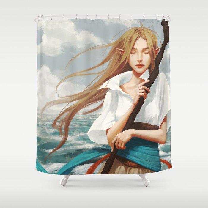 Nalia de Bastion Shower Curtain
