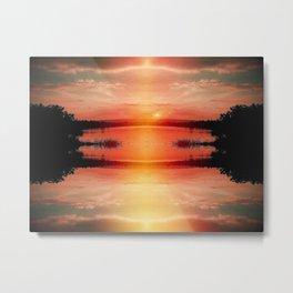 Apocalyptic Sunset Metal Print