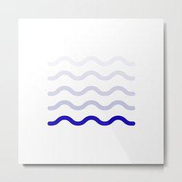wave blue colors #society6 #decor #buyart #artprint Metal Print