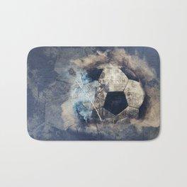 Abstract Grunge Soccer Bath Mat
