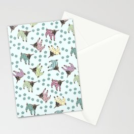 Pajama'd Baby Goats - Blue Stationery Cards