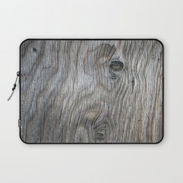 Real Aged Silver Wood Laptop Sleeve