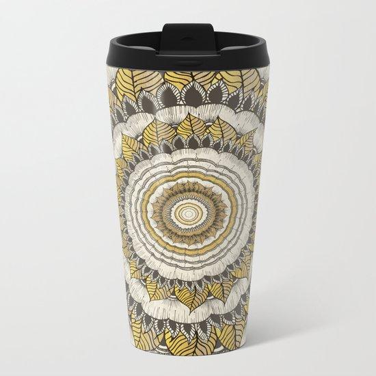 Sun Flower Metal Travel Mug