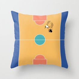 Street Basketball From Above  Throw Pillow