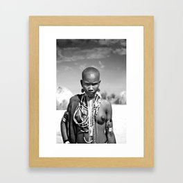 airborne tribe omo valley Framed Art Print
