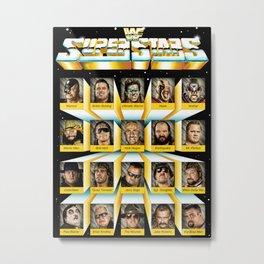 Superstars Of Wrestling Metal Print