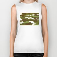 camo Biker Tanks featuring CAMO by Bruce Stanfield
