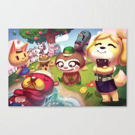 Animal Crossing Canvas Print