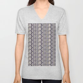 pattern art curtain Unisex V-Neck