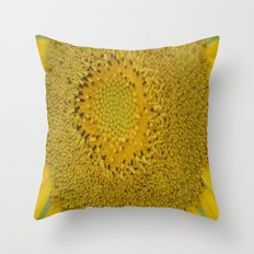 Yellow Sunflower 0043 - Series 1 Throw Pillow