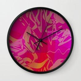 katie. plum Wall Clock