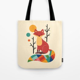 Rainbow Fox Tote Bag