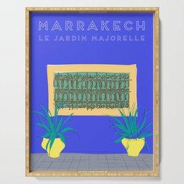 Le Jardin Majorelle, Marrakech (Marrakesh), Morocco Travel Poster Serving Tray
