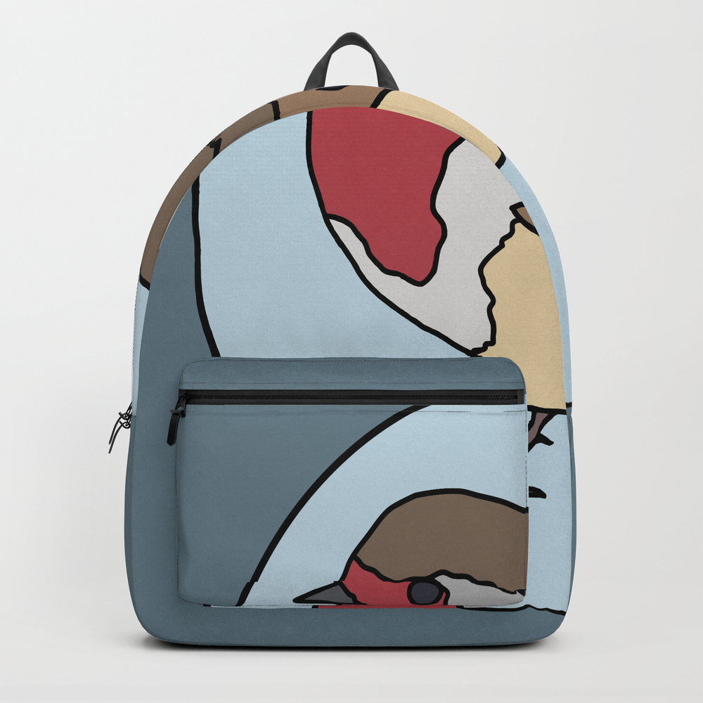 Robin - Robin Redbreast (blue) Backpack by Mothpathtags (BKP8922183) photo