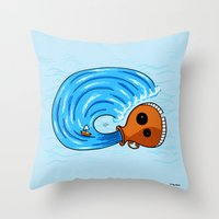 aquarius Throw Pillows featuring Aquarius by Giuseppe Lentini