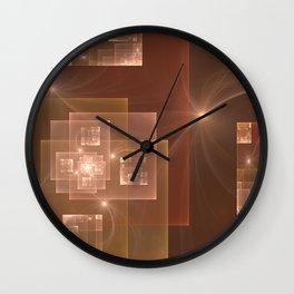 Fractal City Lights Wall Clock