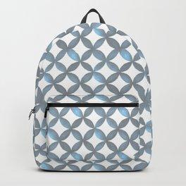 Gray, Blue & White Pattern 3 Backpack