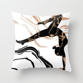 Yoga Time, Silhouette Of A Sexy Young Woman Practicing Yoga Throw Pillow
