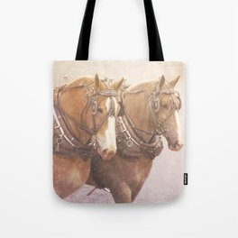 Draft Horses 2 Tote Bag