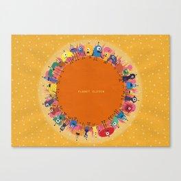 Planet Eleven Canvas Print
