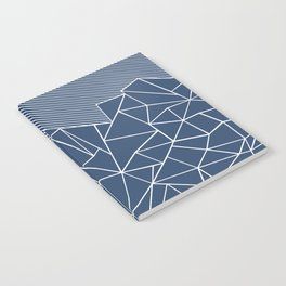 Ab Lines 45 Navy Notebook