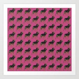 Border Terrier T Pink Tile Art Print