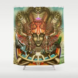 Young Sadhu's visionary pilgrimage Shower Curtain