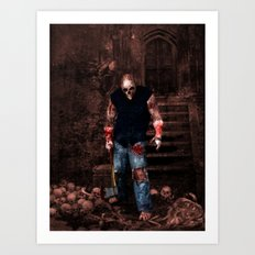 Splatterhouse Art Print