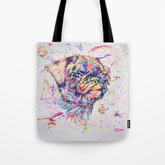 Pug Dog // Pugression Tote Bag