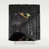 saturn Shower Curtains featuring Saturn by Cs025