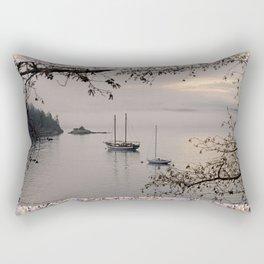 FOGGY MORNING AT ORCAS LANDING Rectangular Pillow
