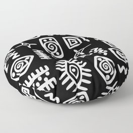 African Motif Floor Pillow