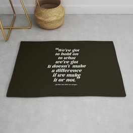 Livin' on a prayer | Rock and roll quote Rug