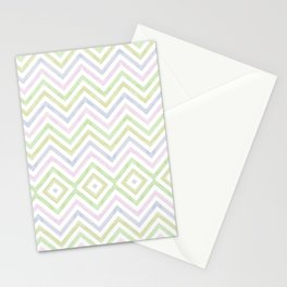 sorbet chevron with a twist Stationery Cards