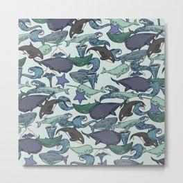 Very Whale! Metal Print