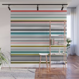grey and colored stripes Wall Mural