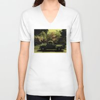 old school V-neck T-shirts featuring Old School by IRIS Photo & Design