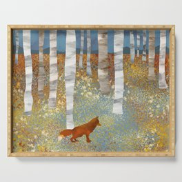Autumn Fox Serving Tray