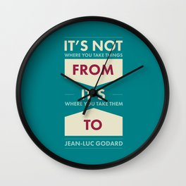 Godard (The quotes series) Wall Clock