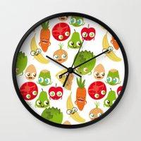 food Wall Clocks featuring Food by Peerro