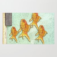 goldfish Area & Throw Rugs featuring Goldfish by Mr and Mrs Quirynen