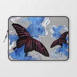 Butterfly II ink by carographic, Carolyn Mielke Laptop Sleeve