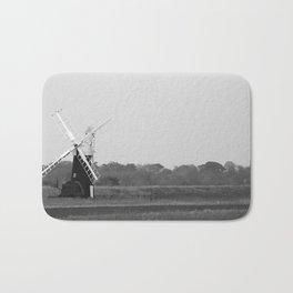 Windmill, Norfolk Broads, England Bath Mat